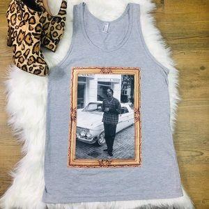 American Apparel Gray Snoop Dog Tank Top Size XS